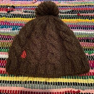 Volcom Knit Fuzzy Beanie